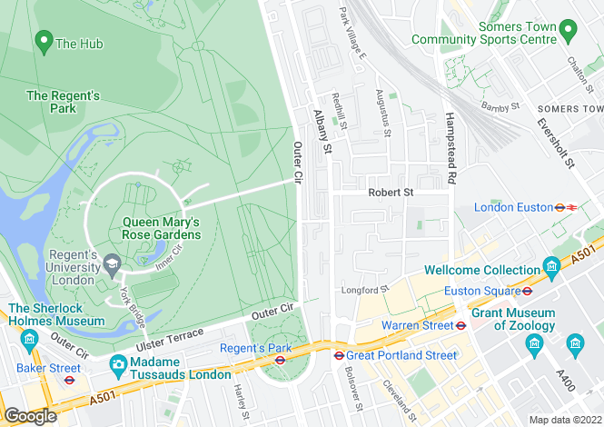 Map for Chester Terrace, Regent's Park, London, NW1 4NL