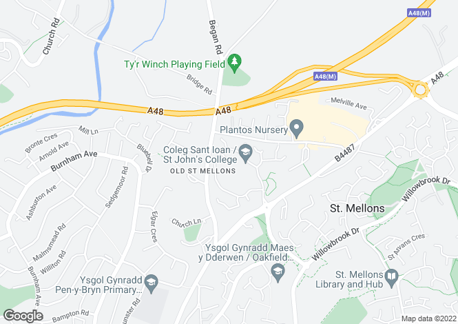 Map for Hastings Crescent, Old St Mellons, Cardiff