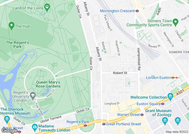 Map for Chester Terrace, Regent's Park, London