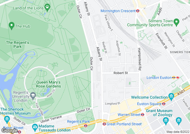 Map for Chester Terrace, Regent's Park