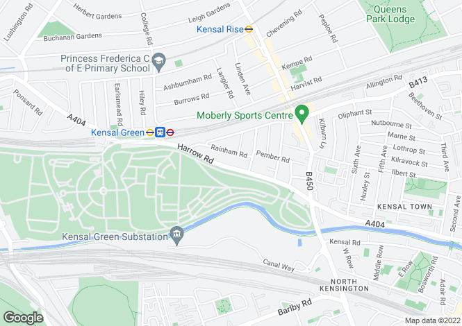 Map for Harrow Road, Kensal Green, London, NW10