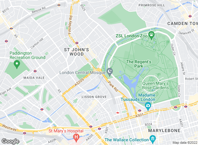 Map for Messila Residential, St John's Wood