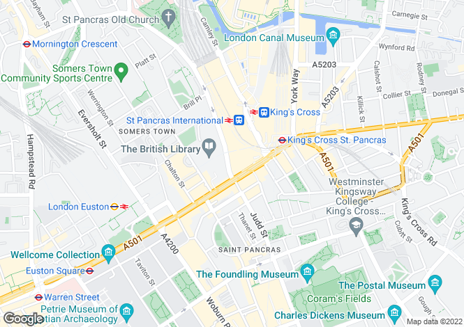 Map for St Pancras Chambers, Euston Road, Kings Cross, London, NW1