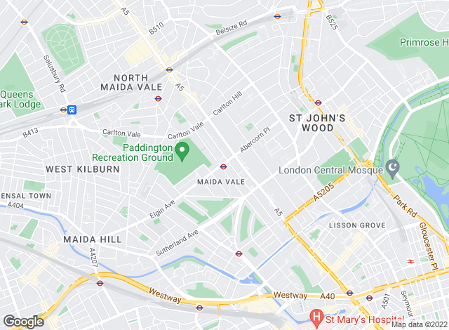 Map for Ashley Milton, Maida Vale