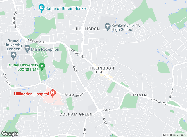 Map for Arron James Karis, Hillingdon