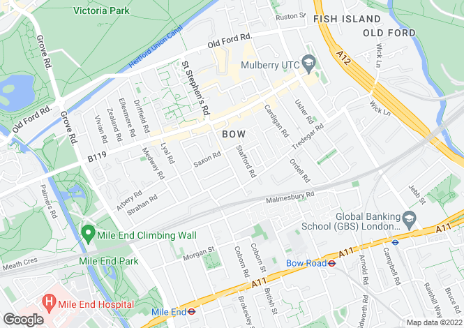 Map for Sinclairs House, Bow, London E3