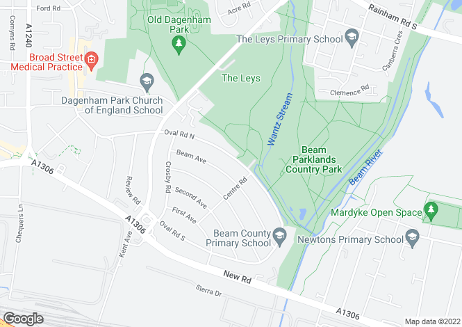 Map for Oval Road North