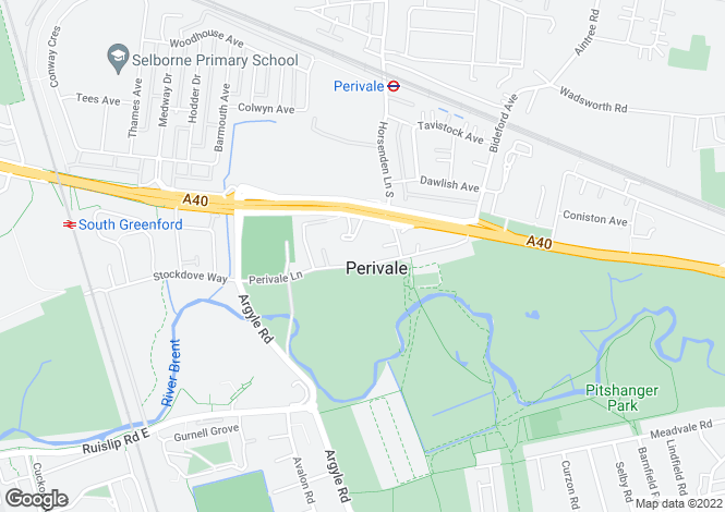 Map for Perivale Lane, Greenford