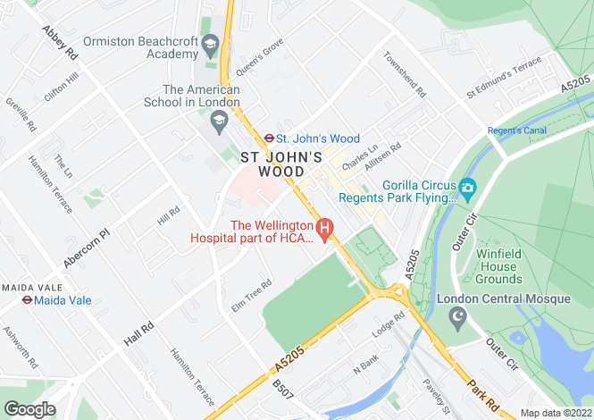 Map for Embassy Court, St. John's Wood, London, NW8 9SX