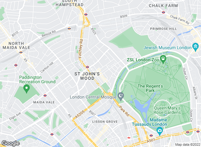 Map for Chesterton Humberts Lettings, St. John's Wood - Lettings
