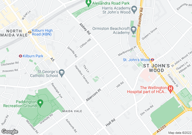 Map for Marlborough Place, St Johns Wood, London, NW8