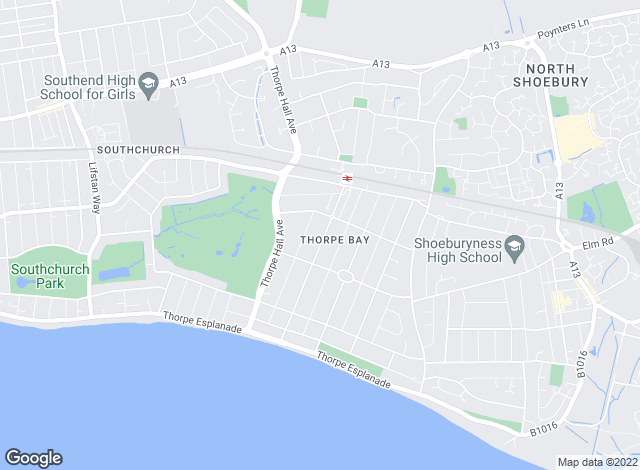 Map for Dedman Gray, Thorpe Bay