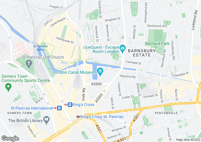 Map for Ice Wharf, Islington, London, N1