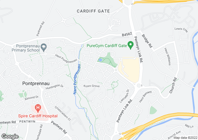 Map for Cressfield Drive, Pontprennau, Cardiff
