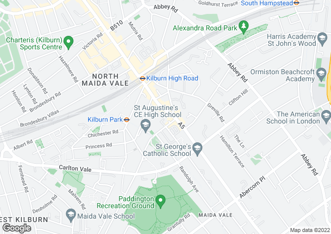 Map for Vale House, Kilburn High Road, London