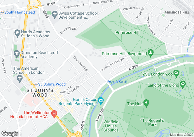 Map for Avenue Road, St Johns Wood, NW8