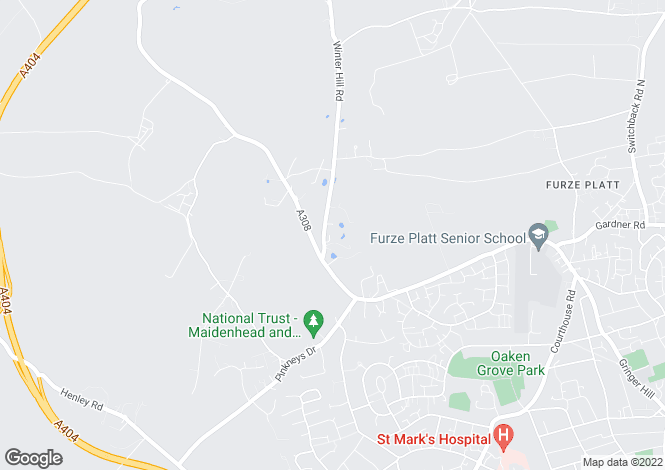 Map for Winter Hill Road, Pinkneys Green, Berkshire, SL6 6NS