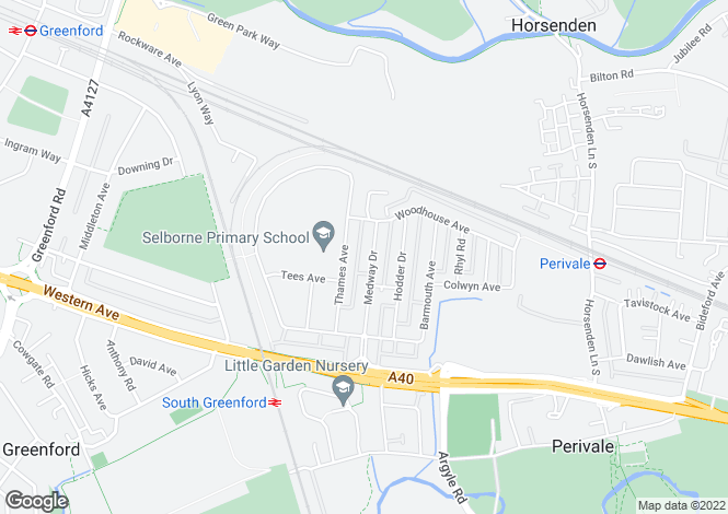 Map for Medway Drive, Perivale, Greater London, UB6