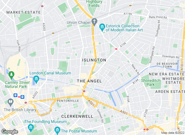 Map for Hamptons International Sales, Islington