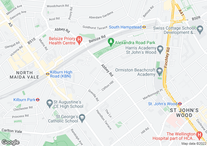 Map for Rutland Mews, St Johns Wood, Camden, London, NW8