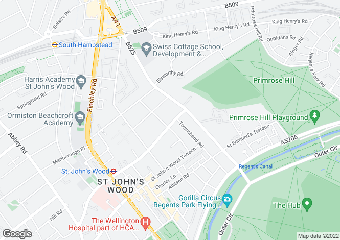 Map for Acacia Road, St John's Wood