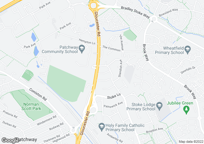 Map for Highnam Close, Patchway, Bristol