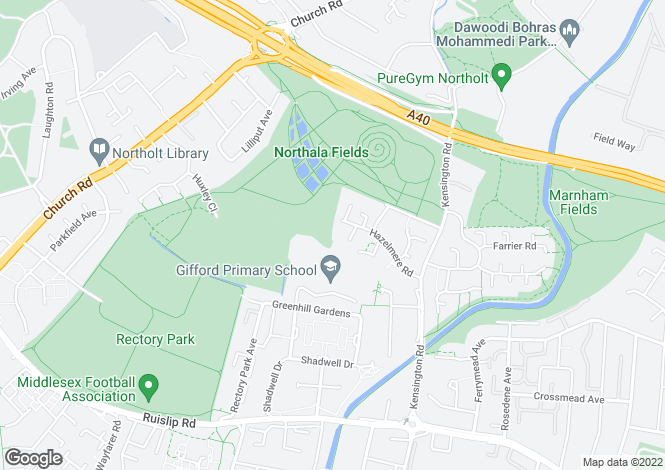 Map for Hazelmere Close, Northolt