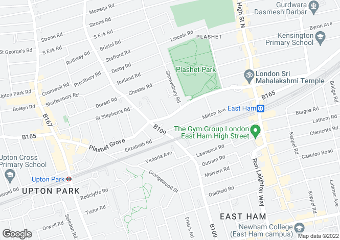 Map for Plashet Grove,