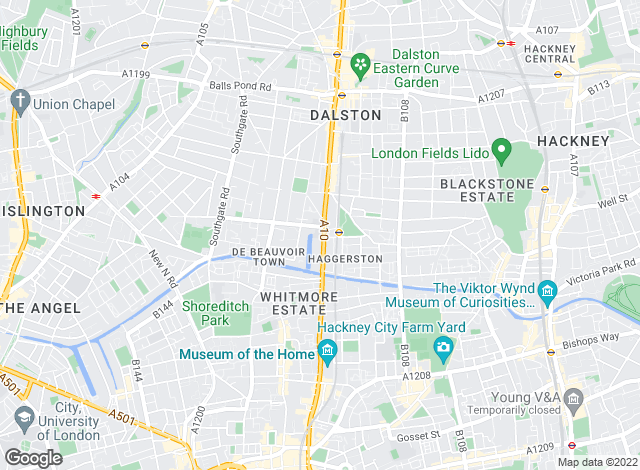 Map for Currell Hackney, Hackney - Lettings