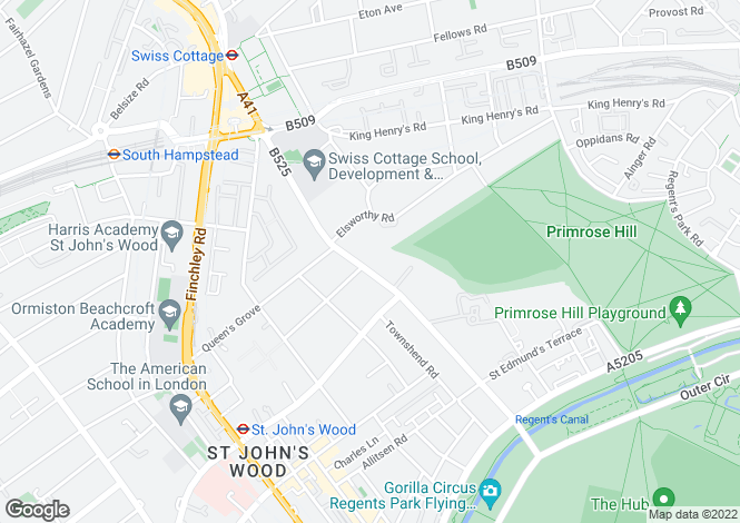 Map for Avenue Road, St John's Wood, London, NW8