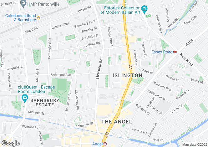 Map for Gibson Square, Islington, London