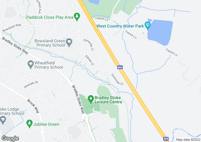 Map for Ormonds Close, Bradley Stoke