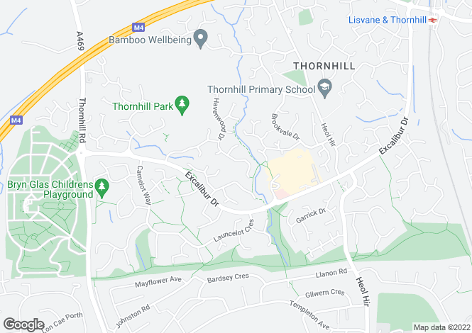 Map for Lowfield Drive, Thornhill, Cardiff