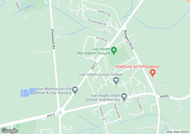 Map for Church Road, Iver Heath, SL0