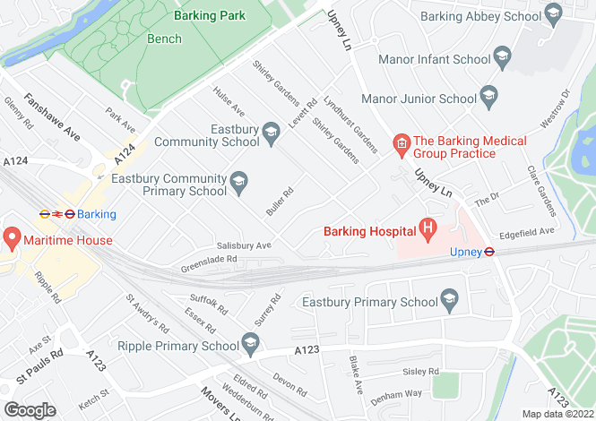 Map for Salisbury Avenue, BARKING, Essex