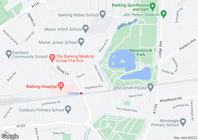 Map for The Drive, Barking, Essex, IG11