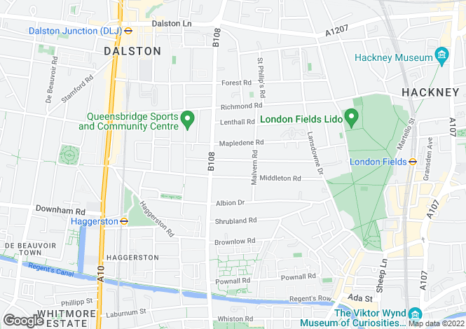 Map for Lavender Grove, London Fields, E8