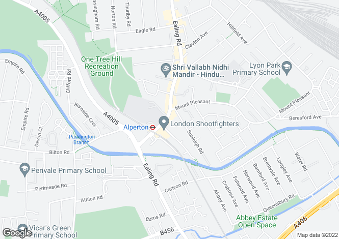 Map for Ealing Road, Alperton, Middlesex
