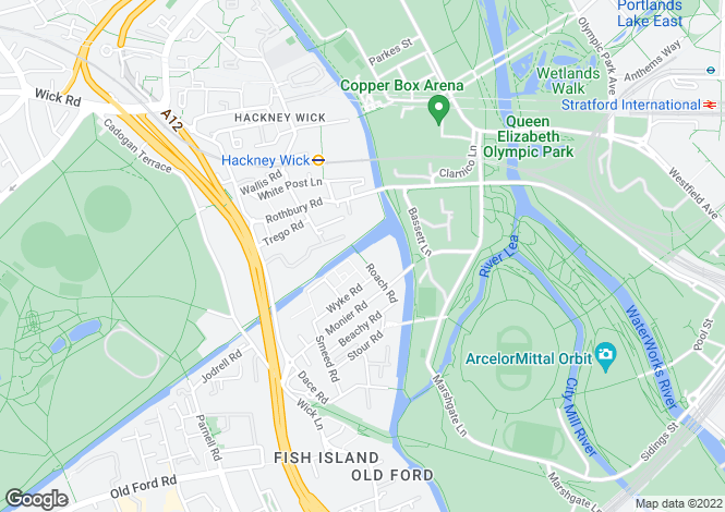 Map for 4 Roach Road , HACKNEY WICK