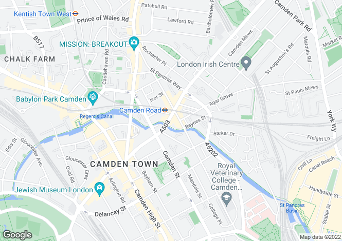 Map for Camden Road, Camden, NW1