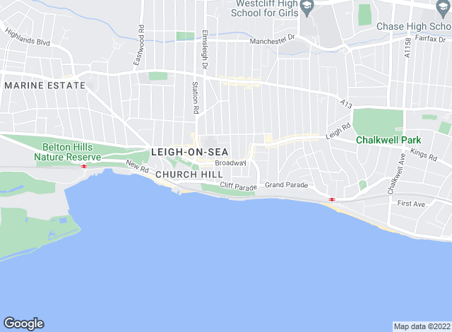Map for Abbotts, Leigh on Sea