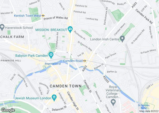 Map for Ivor Street, Camden, London, NW1