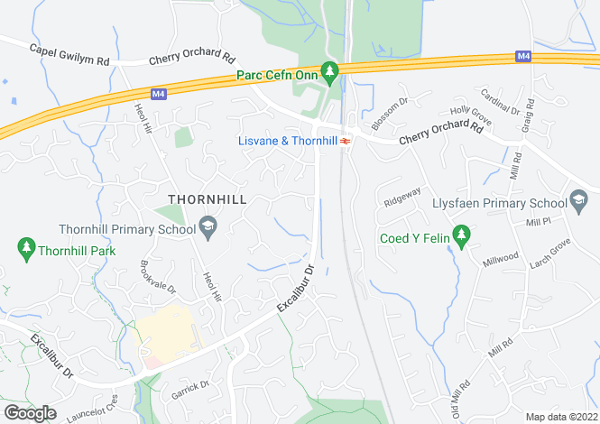 Map for Mayhill Close, Thornhill, Cardiff