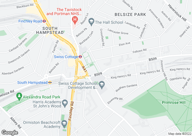 Map for The Visage, Winchester Road, London, NW3