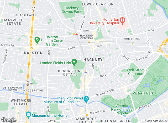 Map for Knight Bishop, Hackney