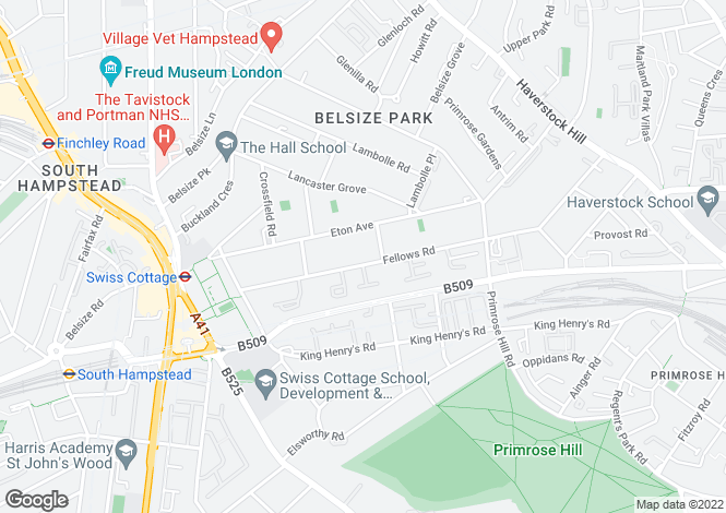 Map for 76-84 Fellows Road, Swiss Cottage, London, NW3