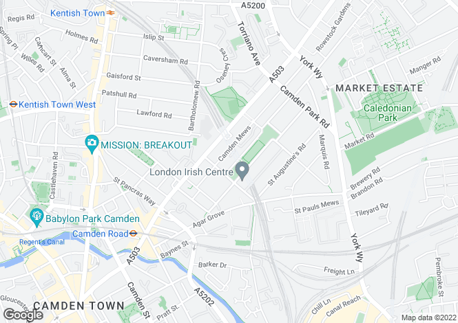 Map for Camden Square Cmden NW1