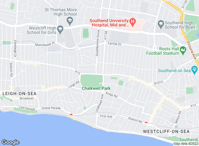 Map for Bairstow Eves, Westcliff on Sea
