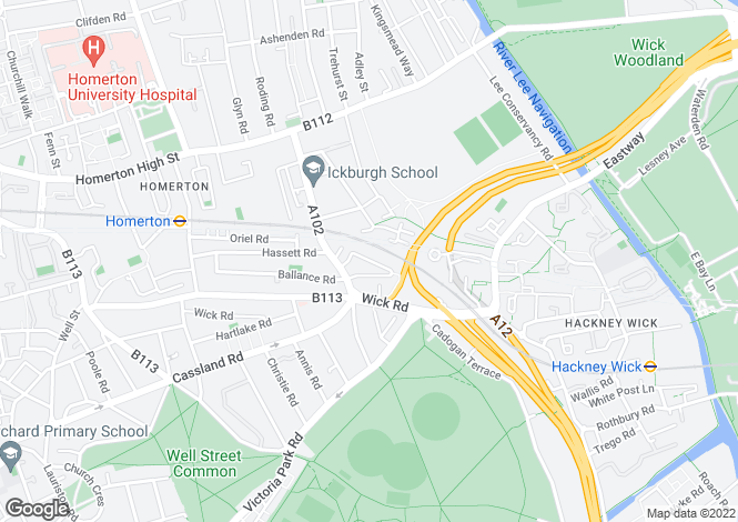 Map for Bushburry Road, Hackney, London, E9