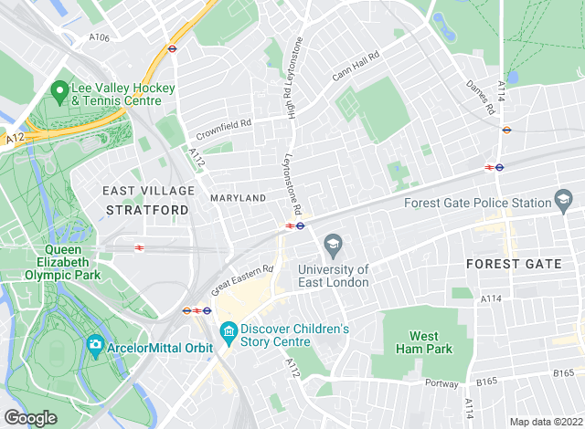 Map for David Daniels, Stratford Lettings